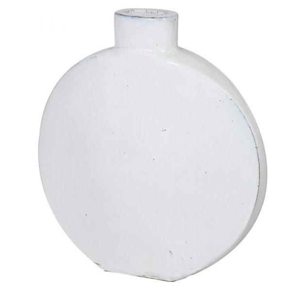 White Round Ceramic Vase