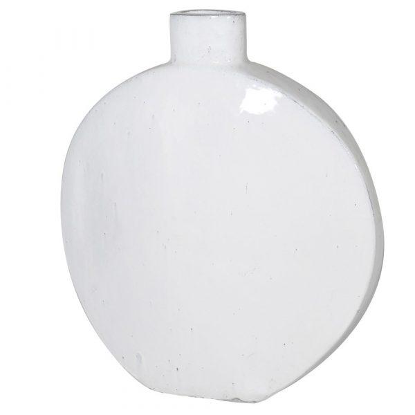 Large White Round Ceramic Vase