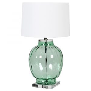 Green Glass Bubble Lamp
