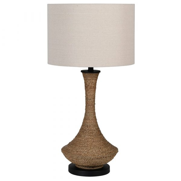 Natural Rope Table Lamp With White Shade