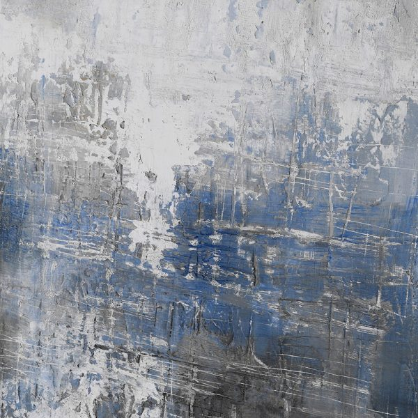 Large Blue Grey Abstract Oil Painting
