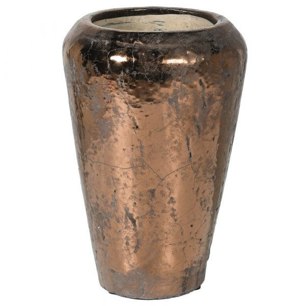 Copper Tones Ceramic Vase