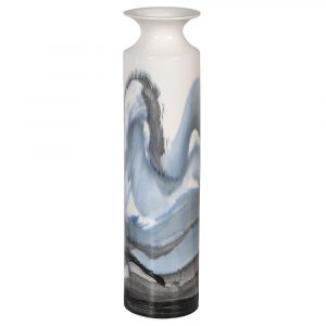 Hand Painted Wave Vase