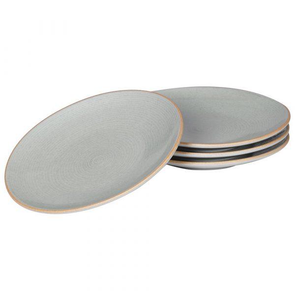 Set of 4 Grey Large Dinner Plate