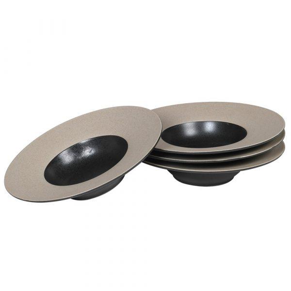 Set of 4 Wide Rimmed Bowls