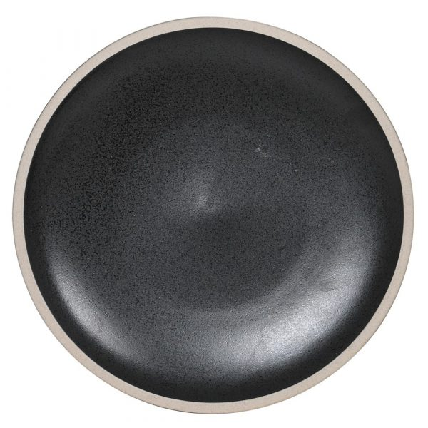 Set of 4 Black Large Dinner Plate