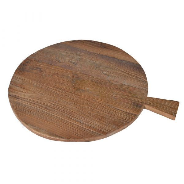 Round Recycled Elm Breadboard