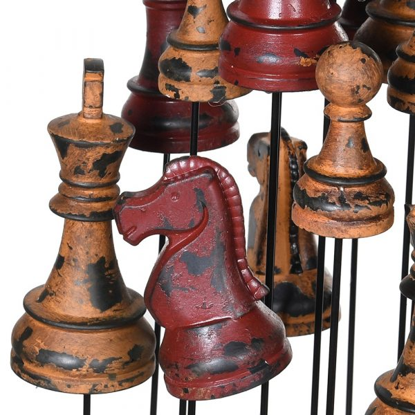 Chess Pieces In Glass Cloche