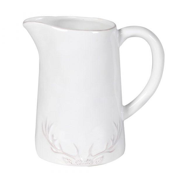 White Antler Ceramic Jug