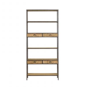 Camden Tall Shelving Unit With Drawers
